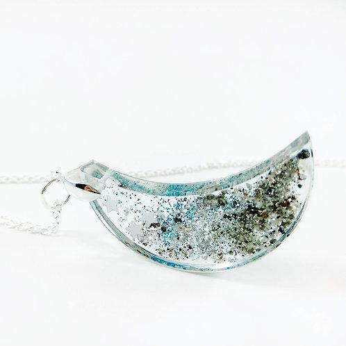 Moon Pendant Locket - Ashes Necklace
