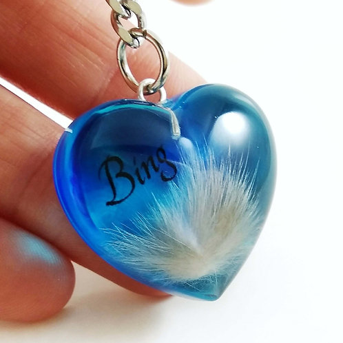 Blue Heart Hair Keepsake Locket