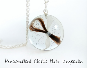 Childs Hair Pet Fur Keepsake Pendant