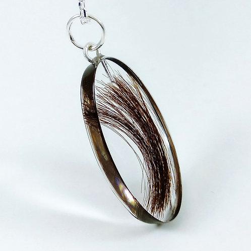 Oval Locket - Lock of Hair Keepsake