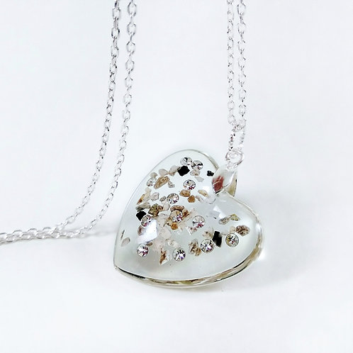 Heart Ashes Necklace with Crystals of Swarovski®
