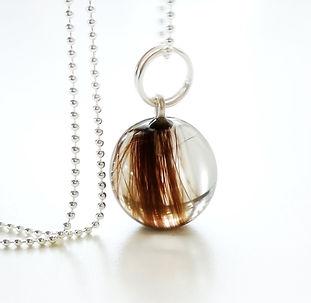 resin sphere orb small lock of hair keep
