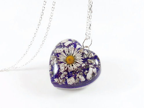 Double Sided Daisy Ashes Necklace