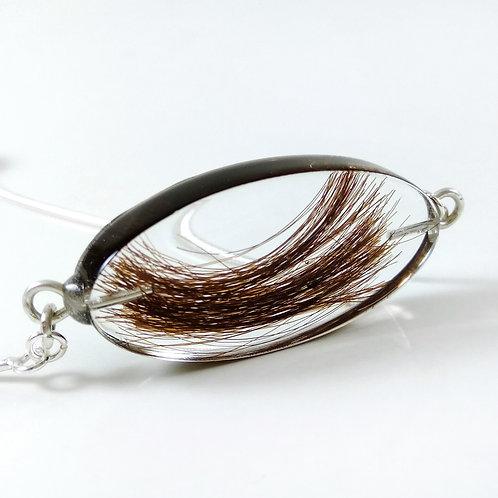Hair Keepsake Adjustable Silver Bracelet