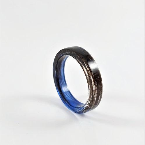 Hair Keepsake Memorial Ring for Men
