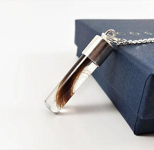 men memorial jewellery lock of hair keep