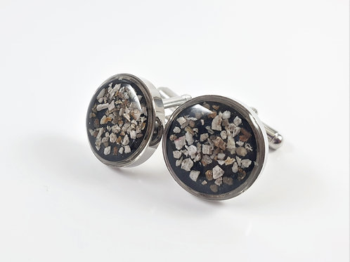 Memorial Cufflinks with Cremation Ashes