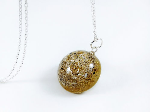 Cremation Ashes Pendant with Glitter