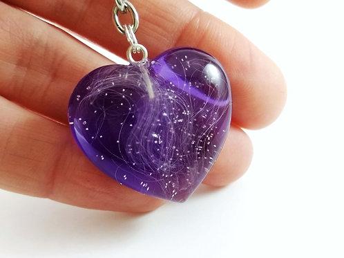 Purple Heart Pet's Fur Memorial Keepsake
