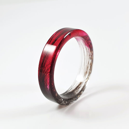 Lock of Hair Keepsake Memorial Ring