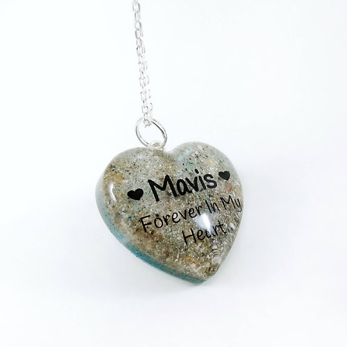 Personalised Ashes Necklace - Forever In My Heart