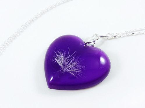 Purple Heart Keepsake with Hair