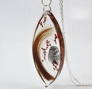 personalised memorial fingerprint jewell