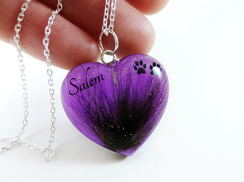 Purple Pet Hair Keepsake