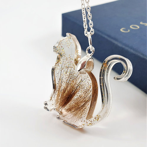 Cat Shaped Pendant - Fur Keepsake