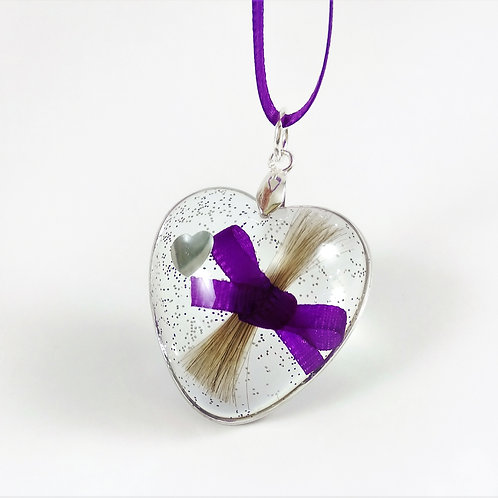 Heart Hair Keepsake with Ribbon