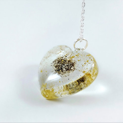 Cremation Ashes Necklace with 24k Gold Dust