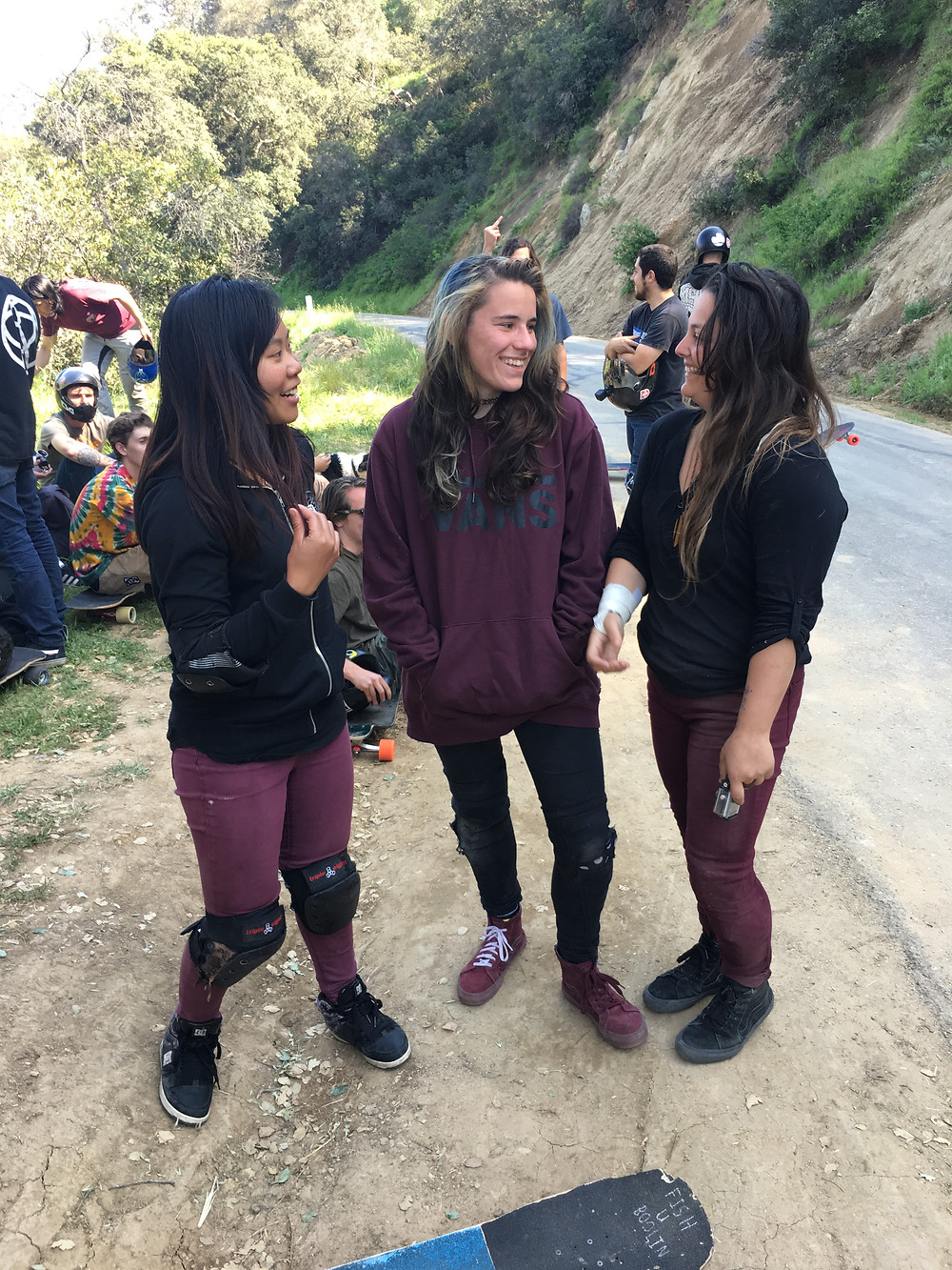There were about 10 girls and a good chunk of us had an unplanned dress code. We killed the maroon and black combo. Photo by Joe Gutkowski
