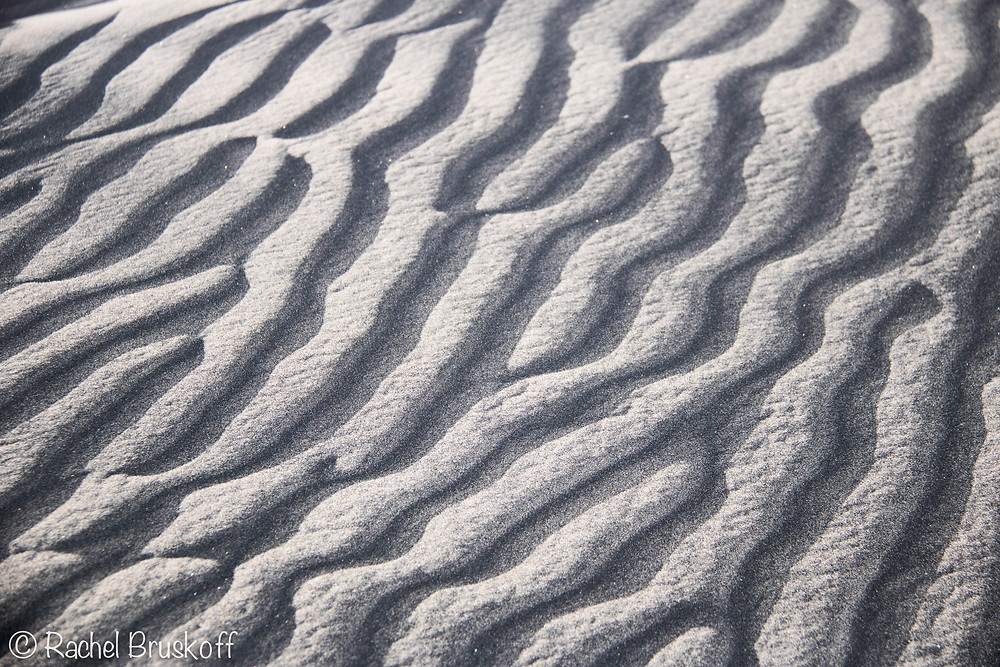 Certain parts of the dunes were covered in black sands and I was obsessed with the patterns. This photo was not converted to black and white.