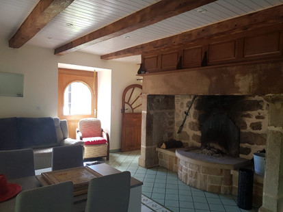 Salle à manger/salon/cheminée.