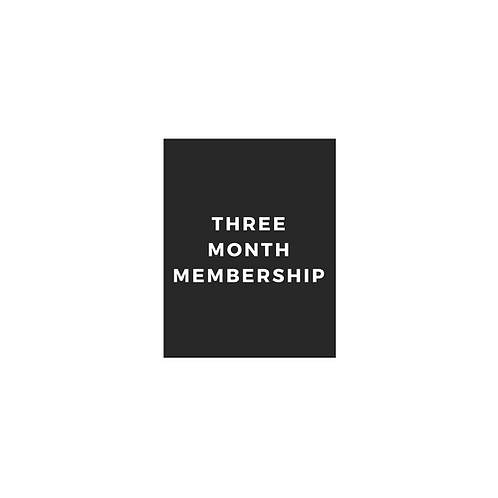 Three Month Membership