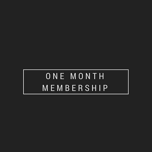 One Month Membership