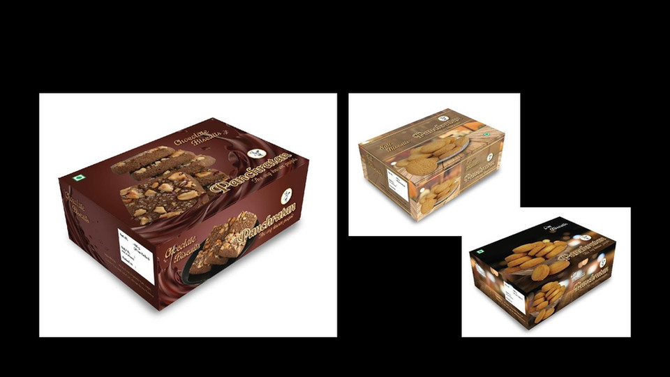 Sweets_ Cookie box design and photograph