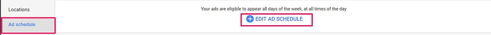 how to set up ad scheduling in google ads step 3