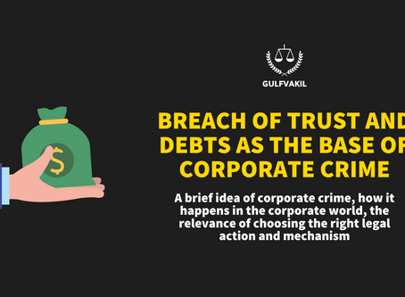 Breach of Trust and Debts as the Base of Corporate Crime