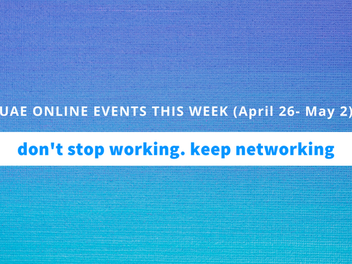 UAE Online Business Events this Week (26 April- 2 May, 2020)