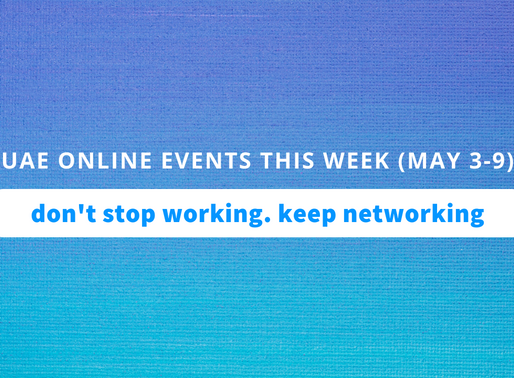 UAE Online Business Events this Week (May 3 to 9, 2020)