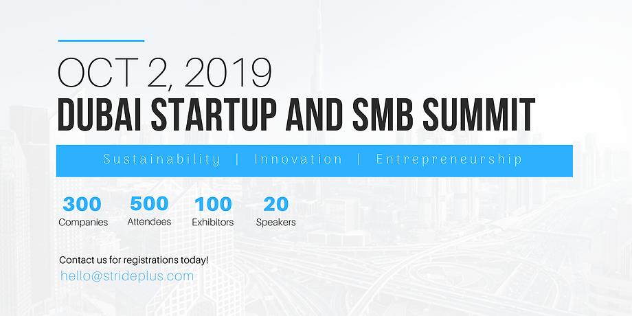 Dubai Startup and SMB Summit 2019- event
