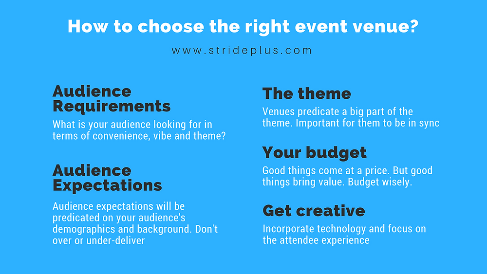how to chose the right event venue