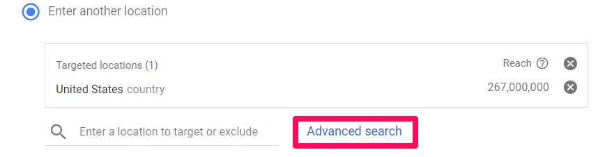 how to set up geo-targeting in google ads step 4