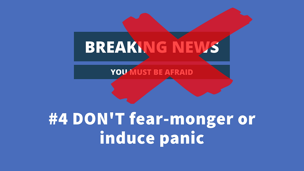 do not fear monger or induce panic via your digital ads