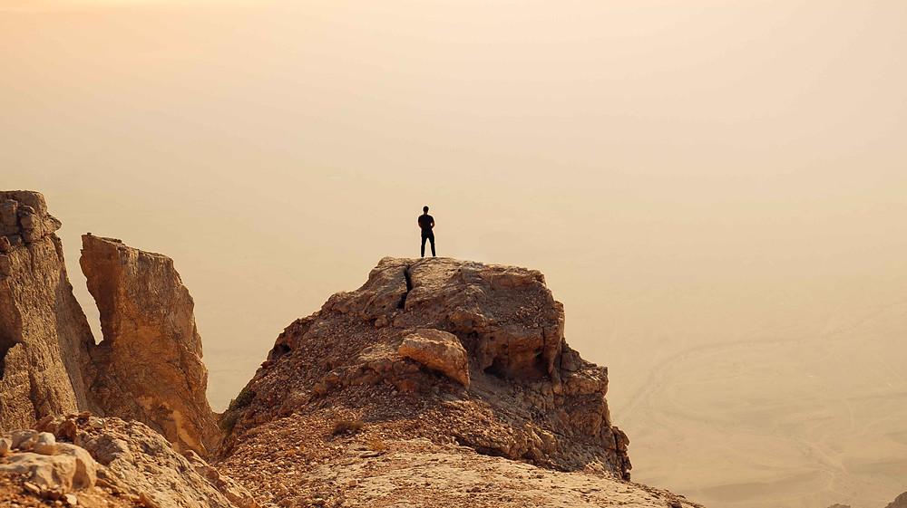 A traveler pictured in Al Ain, UAE