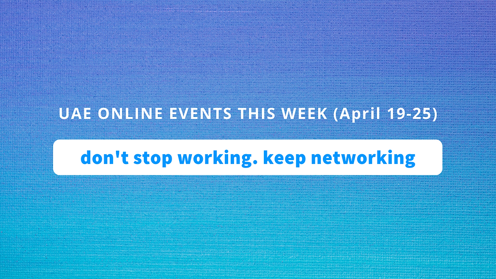uae online events this week April 12 to 18