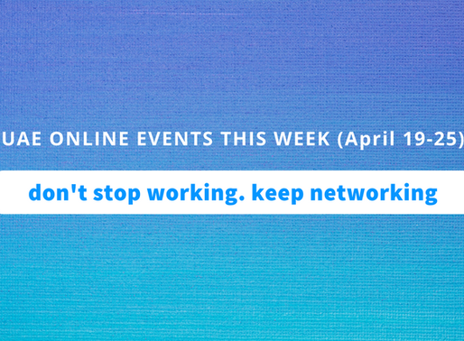 UAE Online Business Events this Week (19-25  April, 2020)