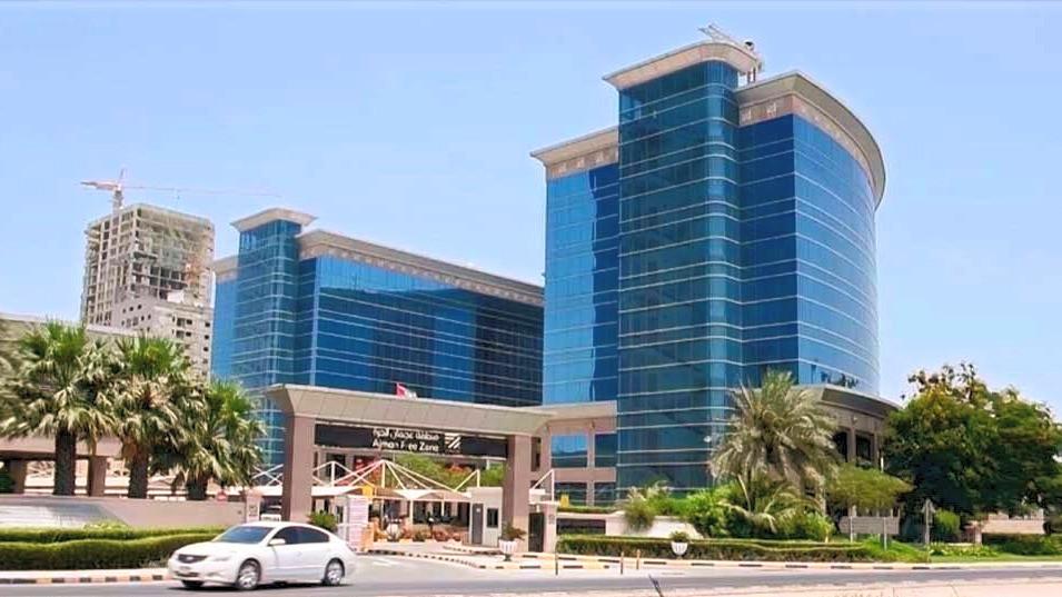 an image of ajman freezone headquarters in ajman