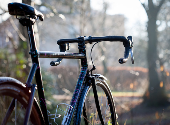 Lugged all-road fixed frame.