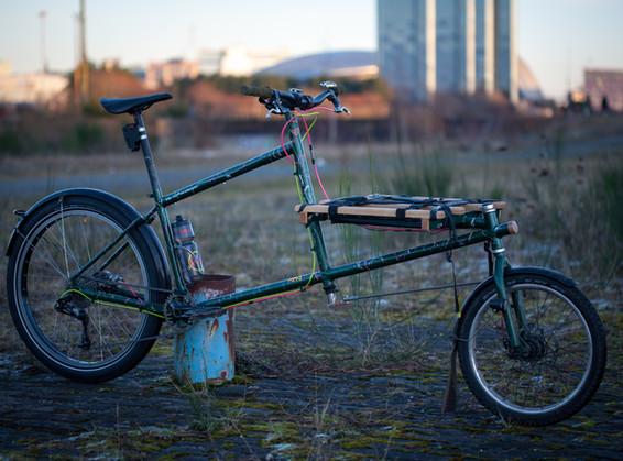 Marin Pine Mountain modded into cargo bike.