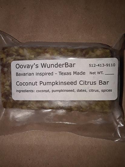 Coconut Pumpkin Seed Citrus Bar