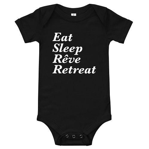 Eat, Sleep, Reve, Retreat Baby one piece