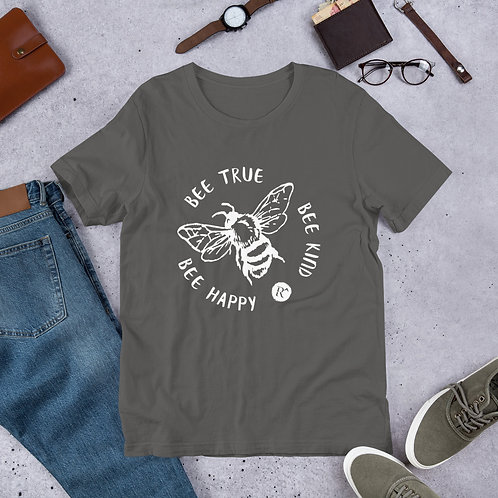 Bee Happy - Short-Sleeve Unisex T-Shirt