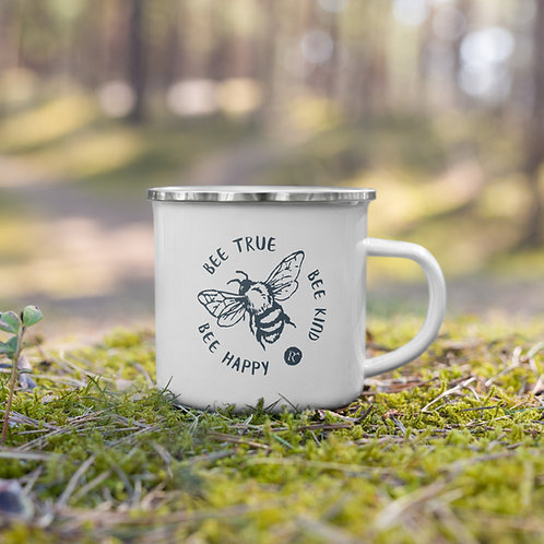 Bee Happy - Enamel Mug