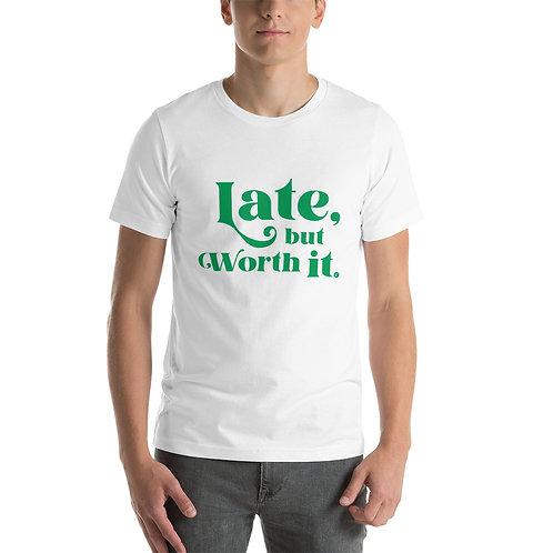 Camp Bestival X Rêve Retreat: Late But Worth It Short-Sleeve Unisex T-Shirt