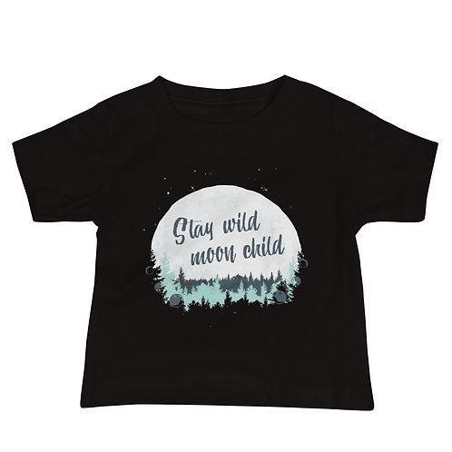 Baby Tee -Stay Wild Moon Child Jersey