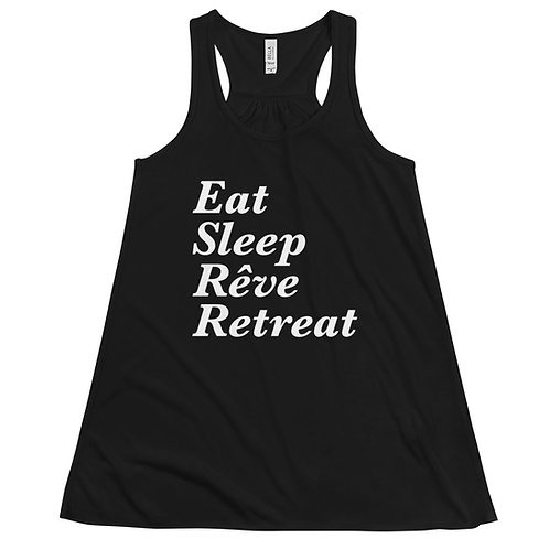 Eat, Sleep, Reve Retreat Flowy Racerback Tank