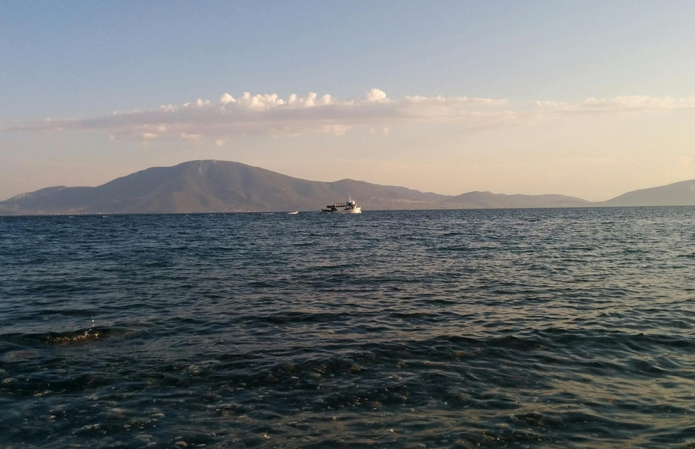 Sea with Fishing Boat