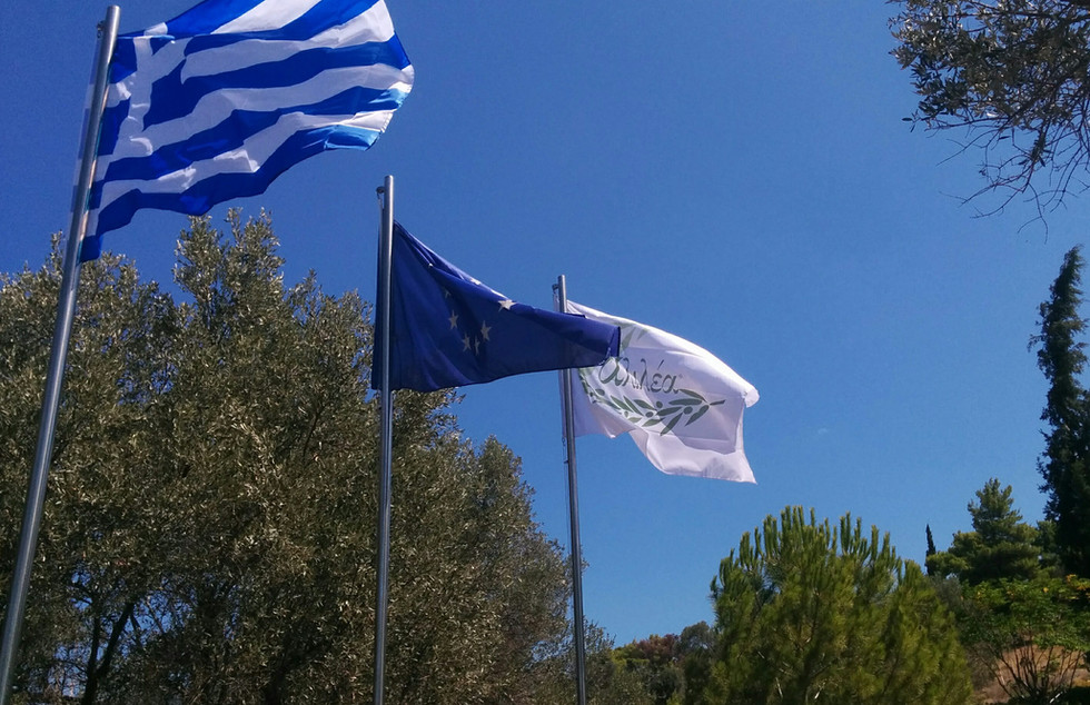Flags Greece EU Alilea